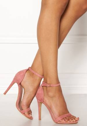 AX Paris Barely There Sandals Blush Suede 38