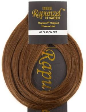 Rapunzel #8 Ruskea Clip On-setti Hair Extensions  One Size