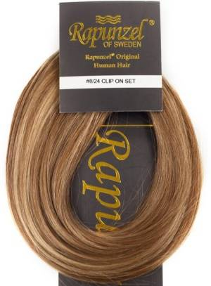 Rapunzel #P8/24 Brownmix Clip On-setti Hair Extensions  One Size