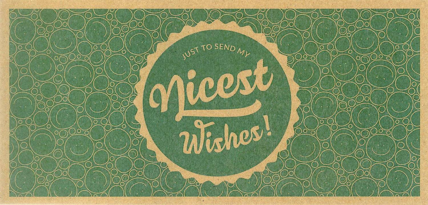 "Ecco Verde Nicest Wishes! - lahjakortti - ""Nice Wishes"" lahjakortti"