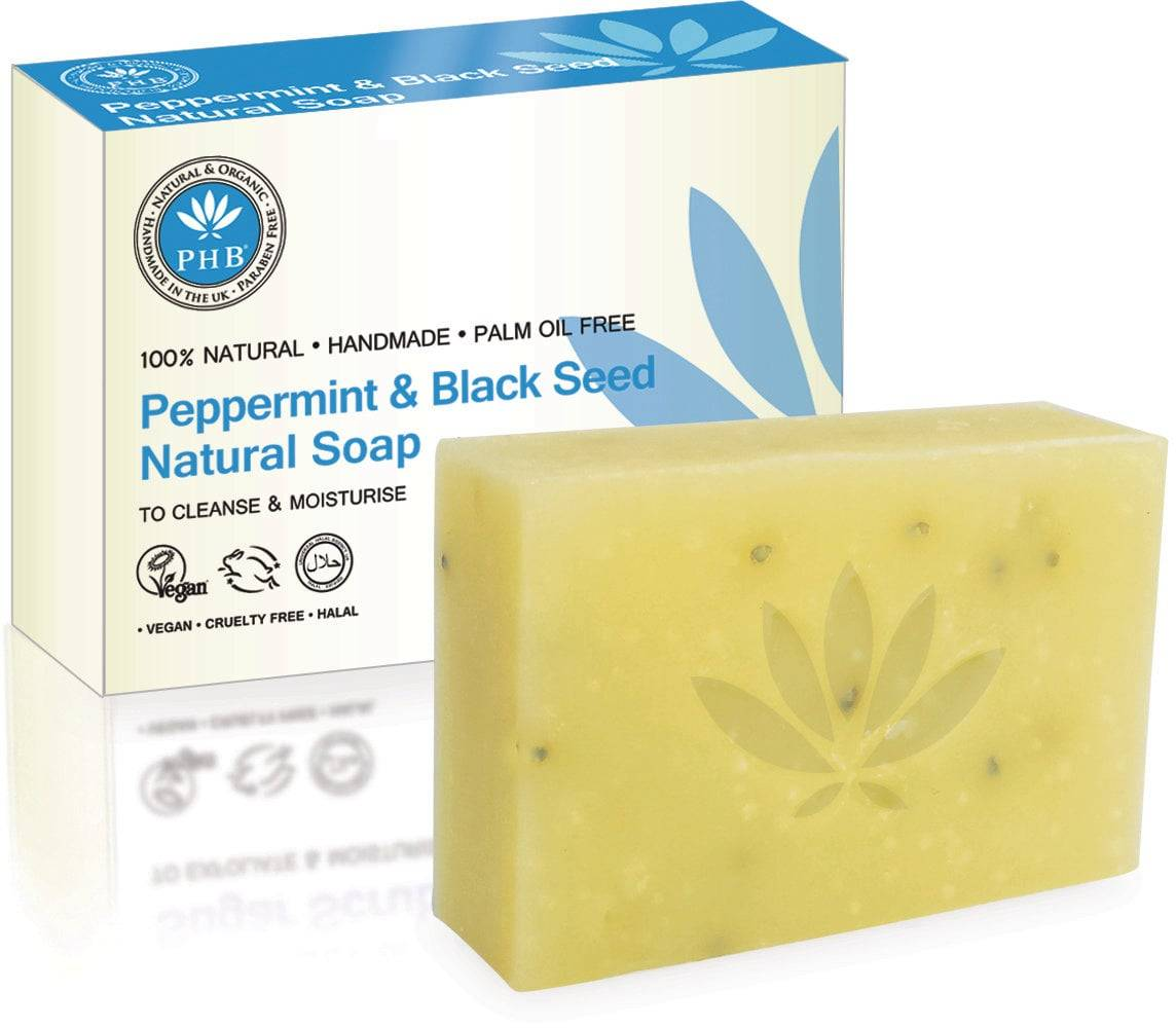 PHB Ethical Beauty Natural Soap Peppermint & Blackseed - 100 g