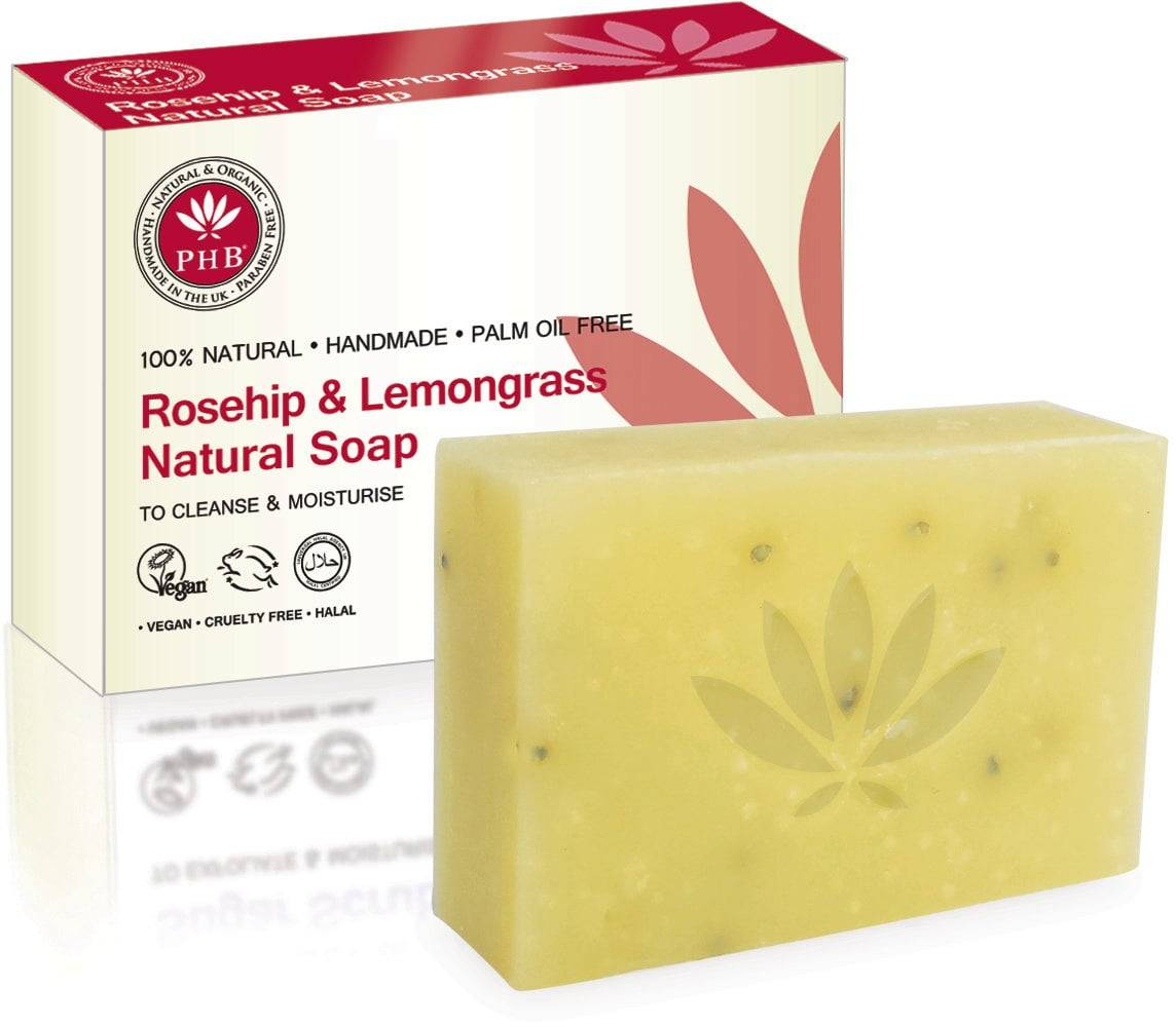 PHB Ethical Beauty Natural Soap Rosehip & Lemongrass - 100 g