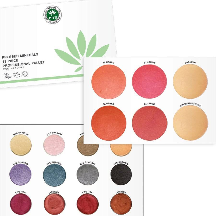 PHB Ethical Beauty Pressed Mineral 18 Piece Professional Pallet - 1 kpl