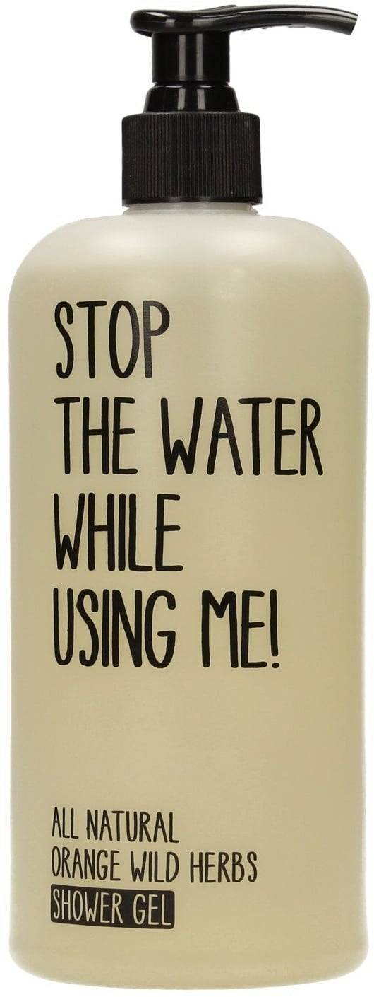 Stop The Water While Using Me! All Natural Orange Wild Herbs Shower Gel - 500 ml