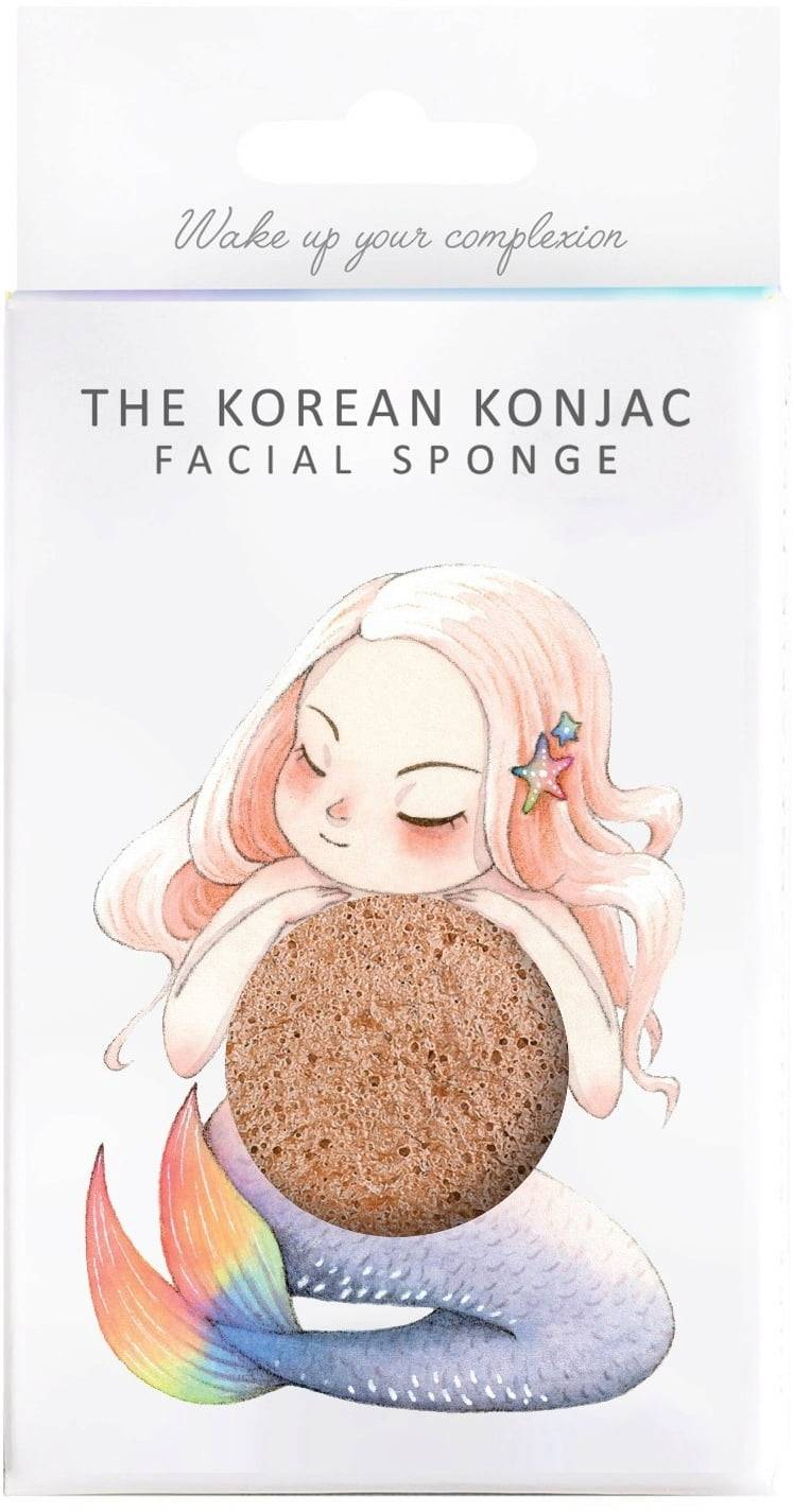The Konjac Sponge Company Mythical Mermaid sieni ja koukku - Pink Clay