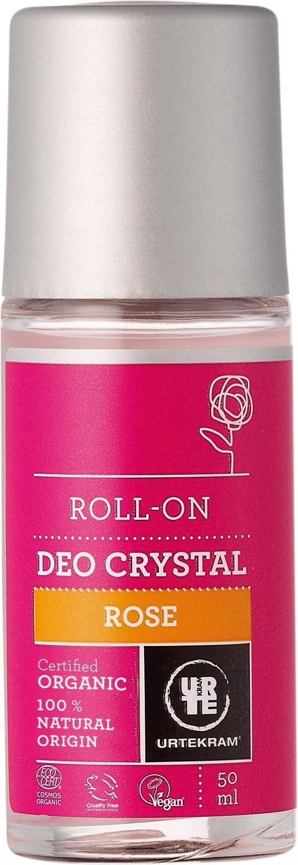 Urtekram Rose Kristall Deo Roll-on - 50 ml