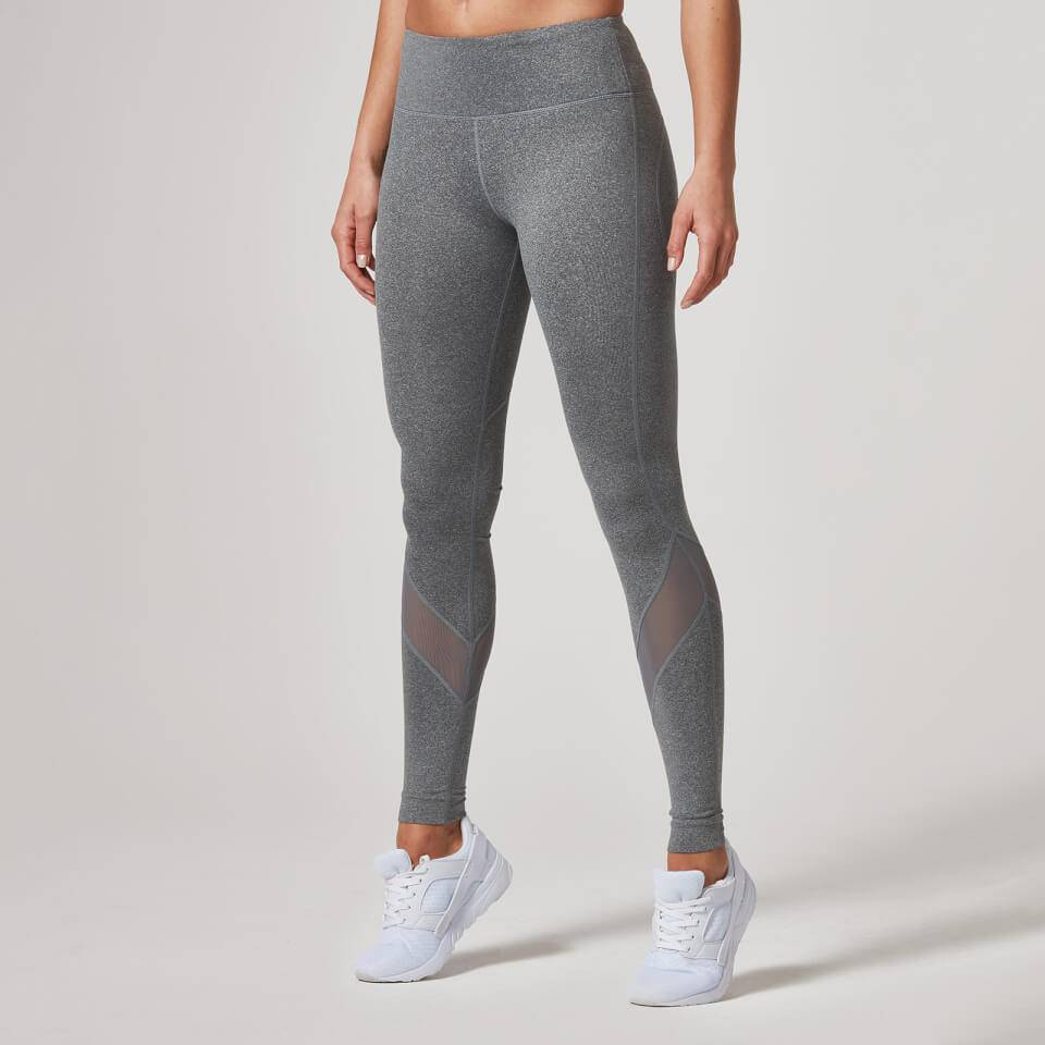 Myprotein Heartbeat Mesh Full-Length Leggings - XS - Harmaa