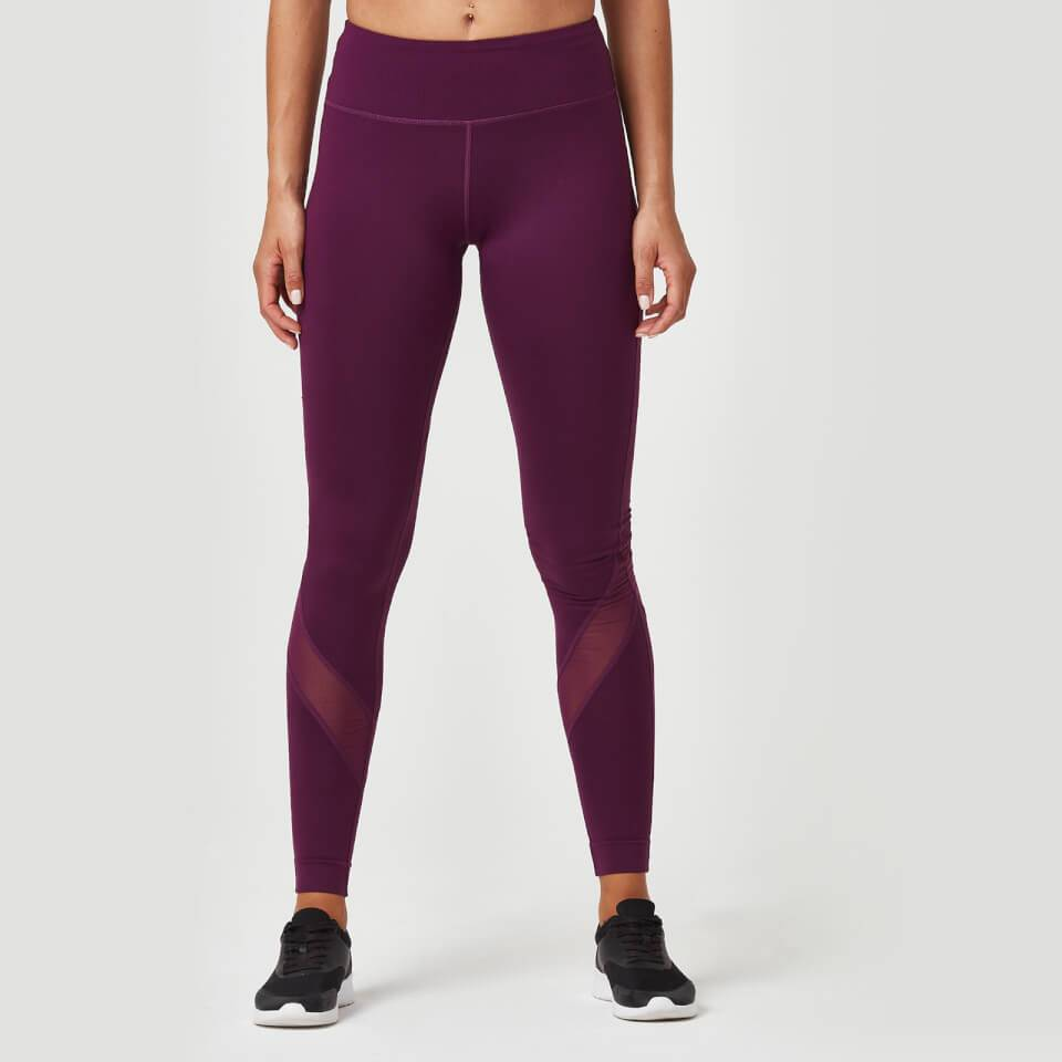 Myprotein Heartbeat Mesh Full-Length Leggings - XL - Plum
