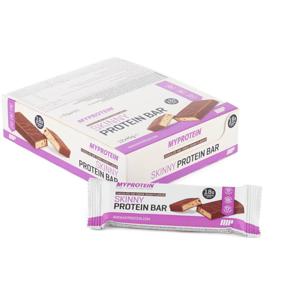 Myprotein Skinny Protein Bar - 12 x 45g - Rasiat - Chocolate and Cookie Dough