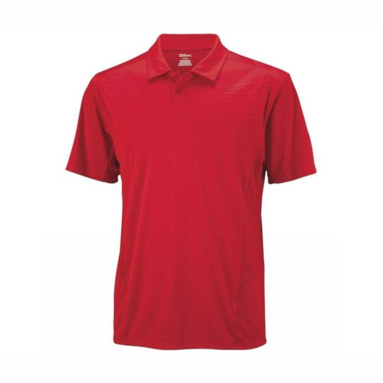 Wilson Solana Embossed Polo Red M