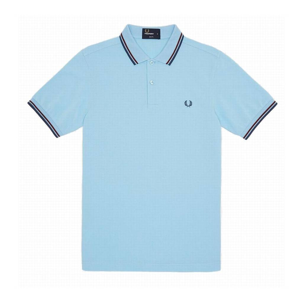 Fred Perry Slim Fit Polo Sky Blue Size S S