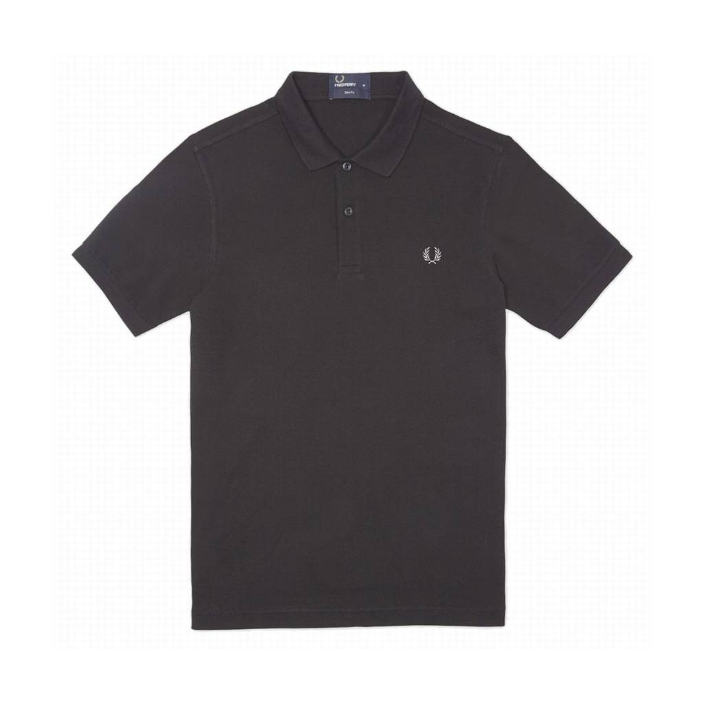Fred Perry Slim Fit Polo Black Size S S