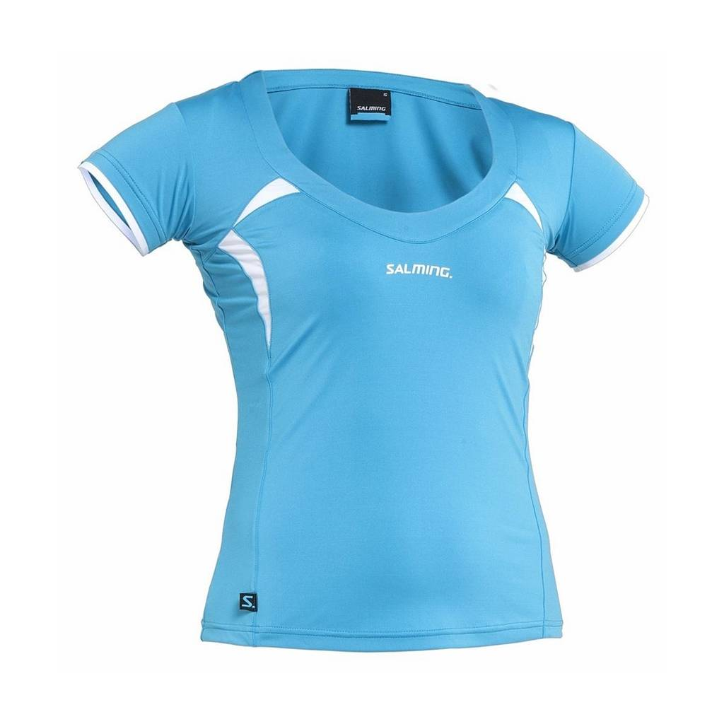 Salming Squash Top Cyan/White L