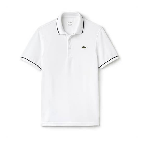 Lacoste Ultra-Dry Tennis Polo White/Navy Size M M