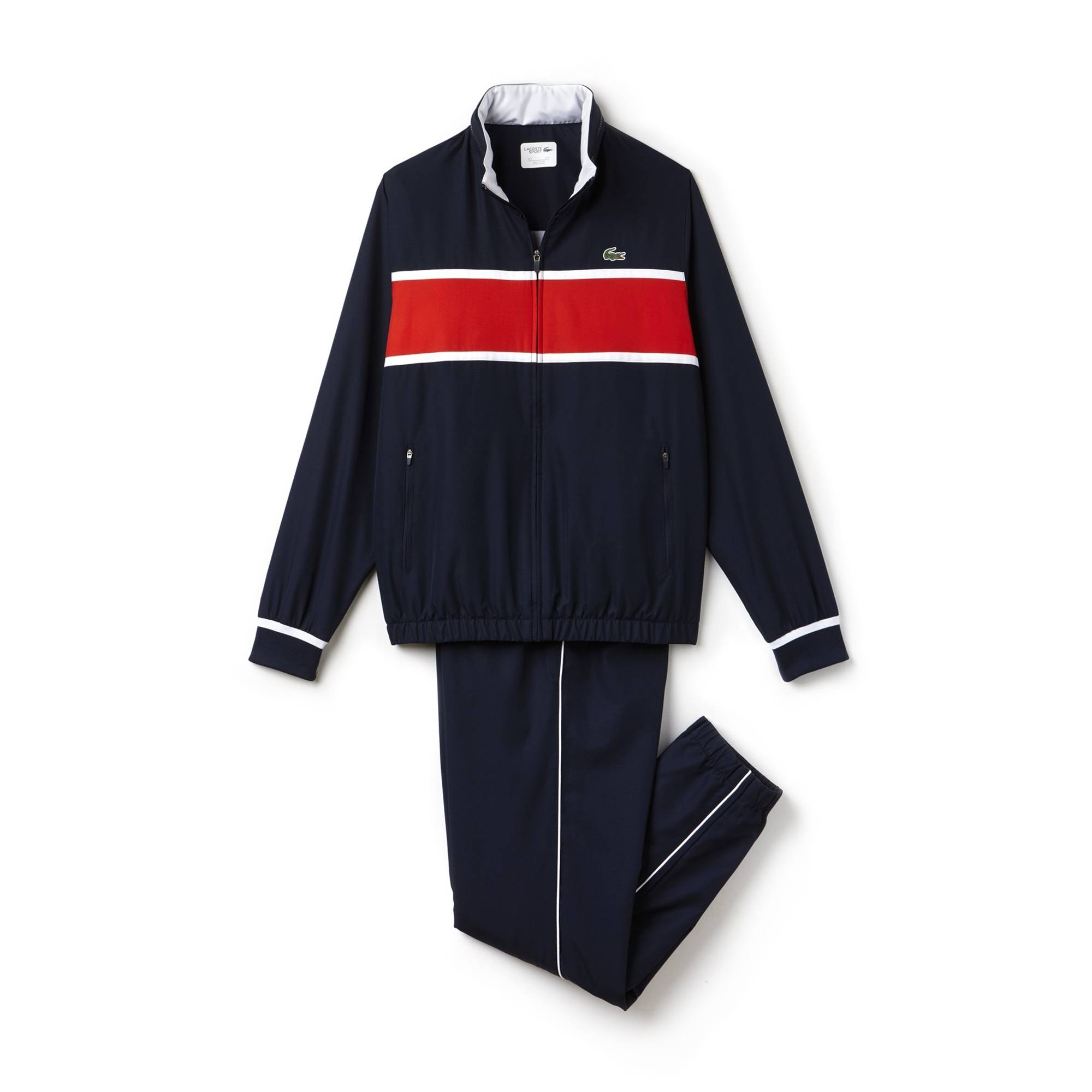 Lacoste Sport Colorblock Tennis Tracksuit Navy/Red M