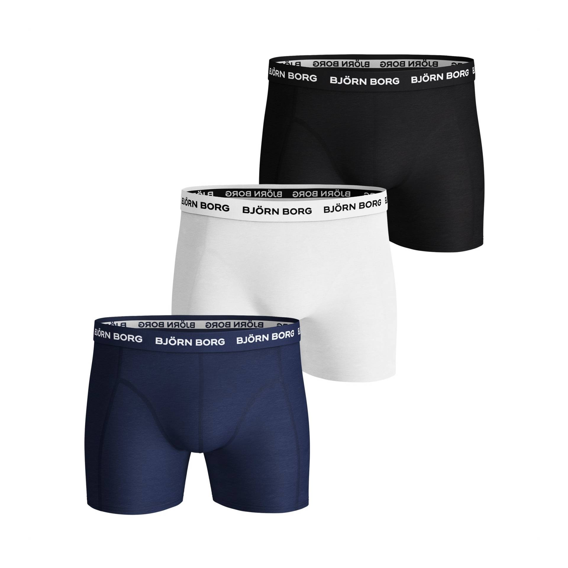 Björn Borg NOOS Solid Shorts Blue Depths 3-pack S