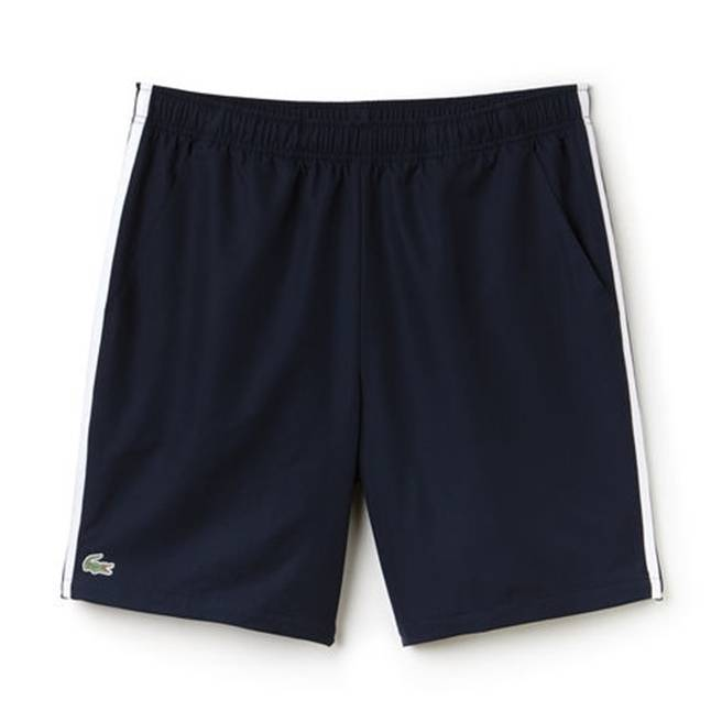 Lacoste Tennis Contrast Band Shorts Navy/White XL