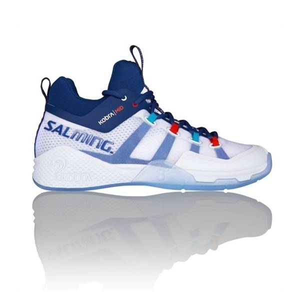 Salming Kobra Mid White/Blue 47 1/3