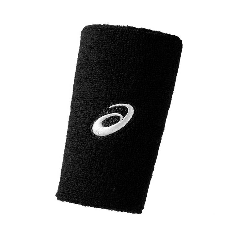 Asics Terry Double Wide Wristband Black