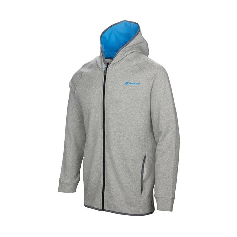 Babolat Core Hood Sweat Boy Grey XL (164cm)