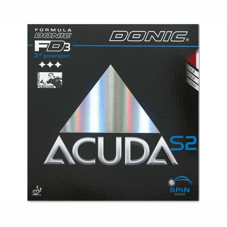 Donic Acuda S2 Musta 1,8 mm