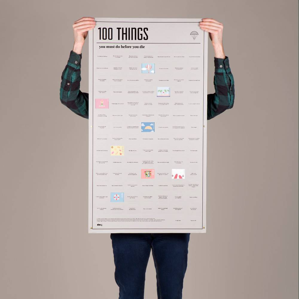 100 Things you must do before you die -juliste