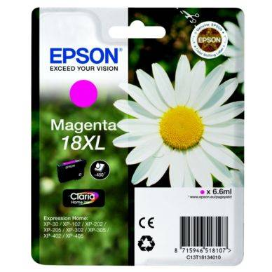 Epson Mustepatruuna magenta, 450 sivua, High Yield T1813 Replace: N/A