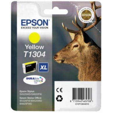 Epson Mustepatruuna keltainen 10,1ml T1304 Replace: N/A