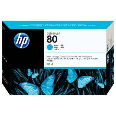 HP Mustepatruuna cyan Nro 80 350ml C4846A Replace: N/A