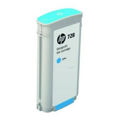 HP Mustepatruuna cyan HP 728, 130 ml F9J67A Replace: N/A