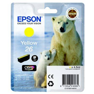 Epson Mustepatruuna keltainen, 300 sivua T2614 Replace: N/A