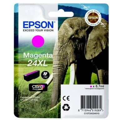 Epson Mustepatruuna magenta, 740 sivua, high yield T2433 Replace: N/A
