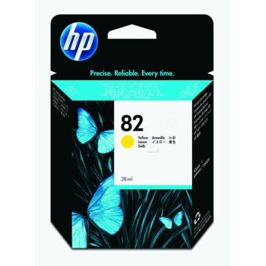 HP Mustepatruuna keltainen nro 82 28ml CH568A Replace: N/A