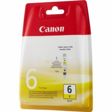 Canon Mustepatruuna keltainen 13ml BCI-6Y Replace: N/A