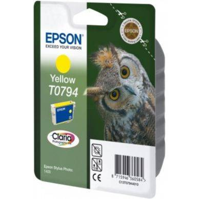 Epson Mustepatruuna keltainen 11ml T0794 Replace: N/A