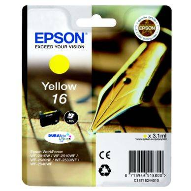Epson Mustepatruuna keltainen, 165 sivua T1624 Replace: N/A