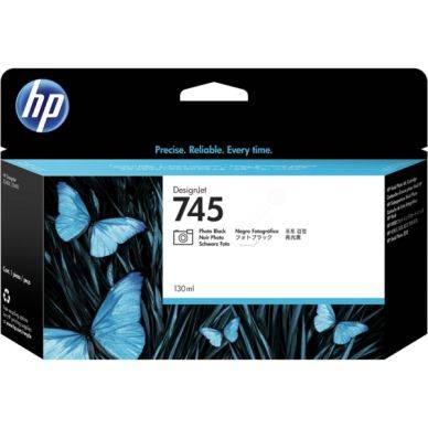 HP Mustepatruuna fotomusta (745), 130 ml F9J98A Replace: N/A