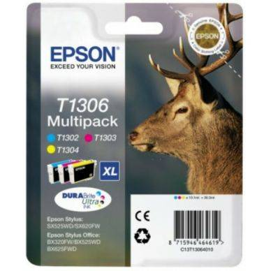 Epson Mustepatruuna MultiPack C,M,Y XL, 3x10.1 ml T1306 Replace: N/A