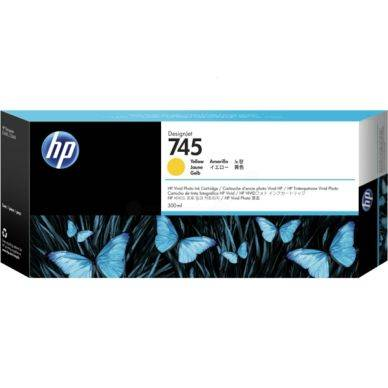 HP Mustepatruuna keltainen (745), 300 ml F9K02A Replace: N/A