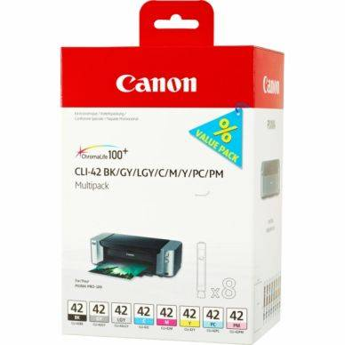 Canon Mustepatruuna MultiPack Bk,C,M,Y,LC,LM, GY,LGY, I 6384B010 Replace: N/A