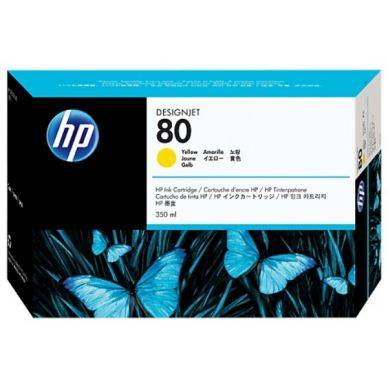 HP Mustepatruuna keltainen Nro 80 350ml C4848A Replace: N/A