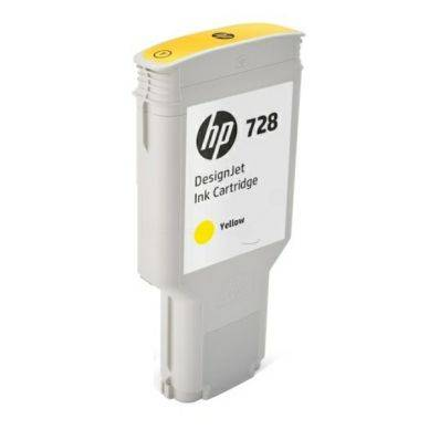 HP Mustepatruuna keltainen HP 728, 300 ml F9K15A Replace: N/A