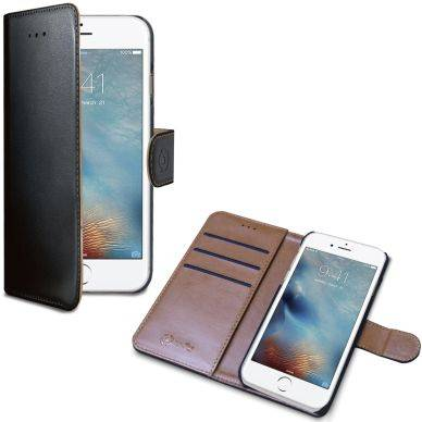 Apple Celly Wally Wallet Case, iPhone 7, musta/ruskea WALLY800 Replace: N/A