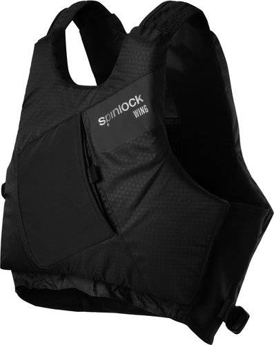 Spinlock Size s wing pfd side zip black graphite