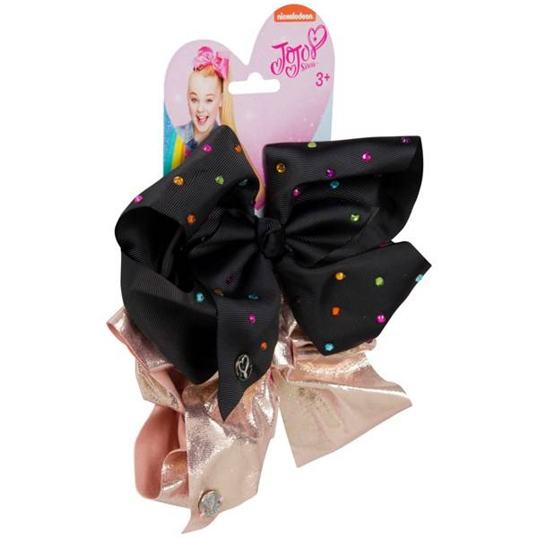 Jojo Siwa Bow Set - Black/Rose Gold