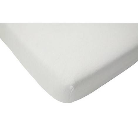 Fitted sheet terry cloth waterproof 60x120cm white, Jollein