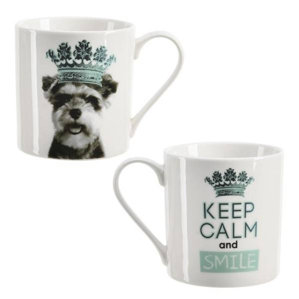 Modern House King of Animal Kopp Hund 37 cl Blå New Bone China