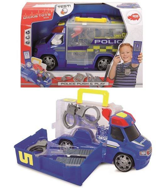 Polisbil med kit, Push and play, Dickie toys