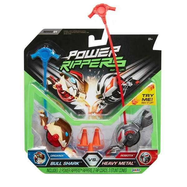 Battle Rippers, Bull Shark VS Heavy Metal, 2-pack, Jakks Pacific