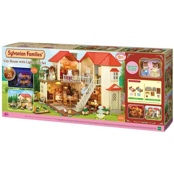 City House with lights, Gift set, Sylvanian Families
